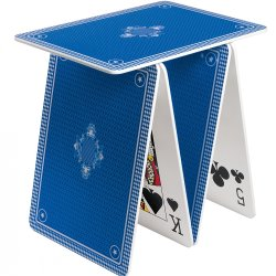 tavolino originale carte da poker blue