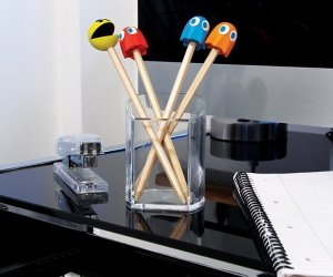 IDEE REGALO ORIGINALI SET 4 MATITE PAC MAN