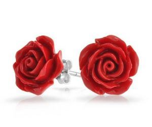 idee regalo originali orecchini red roses