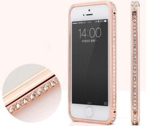 IDEE REGALO ORIGINALI REGALI PER DONNA CUSTODIA IPHONE 5 CON FINTI DIAMANTI