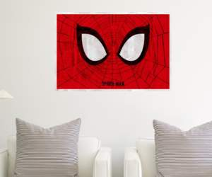 regali originali poster occhi spiderman