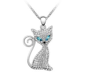 idee regalo originali regali per donna collana hypnotic cat