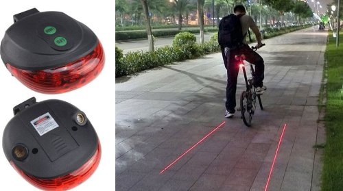 idea regalo originale fanale bici laser