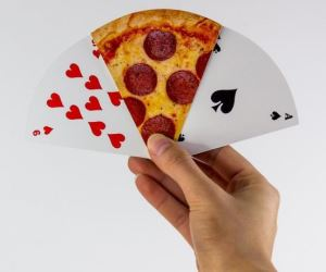 carte da poker pizza