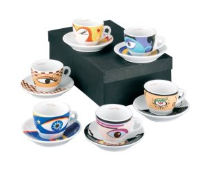 idee regalo originali per la cucina set 12 tazzine magic eyes