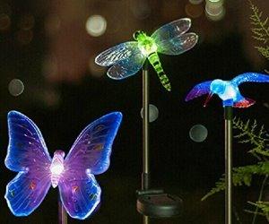 Lampade solari decorative da giardino lampade decorative e luci