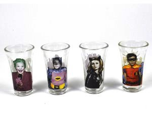 idee regalo originali set 4 bicchierini batman 1966